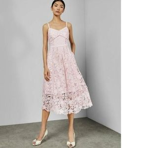 Ted Baker  Pink Tie The Knot Lace Valens Midi 6
